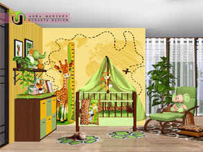 Sims 3 — Aura Nursery by NynaeveDesign — Make your little one's nursery a welcoming space with this fusion of design