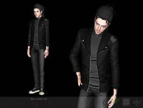 Sims 3 — Male hoody by Shushilda2 — EA mesh | Low poly | recolorable channels | CAS and Launcher icons