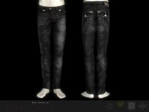 Sims 3 — Passenger jeans #1 by Shushilda2 — New mesh | recolorable channels | CAS and Launcher icons