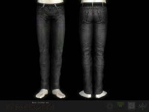 Sims 3 — Passenger jeans #2  by Shushilda2 — New mesh | Low poly | recolorable channels | CAS and Launcher icons