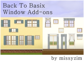 Sims 3 — MZ Back to Basix Window Add-ons by missyzim — A set of add-ons for the EA Back to Basix window. Includes 7 new