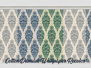 Sims 4 — Cotton Damask Wallpaper Recolor by Beatrice_e — Colourful, yet simple damask wallpaper recolor. All of my