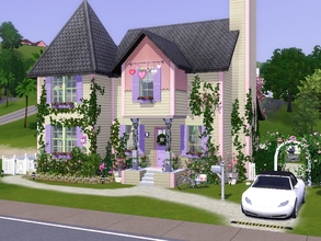 Sims 3 — Mon Petit Coeur by sgK452 — my little heart is a small house with soft colors, it has all the comfort for your