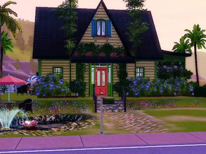 Sims 3 — Bellevue by sgK452 — Pretty little colorful house, for a couple or a young person who starts in adult life,