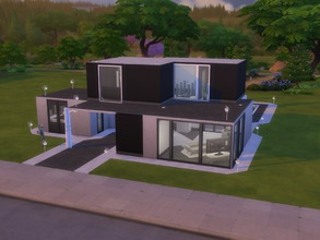 Sims 4 — Starter modern house by Satji — Small modern house. It's a perfect house for a couple who wants a luminous