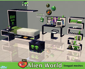 Sims 2 — evi's Alien World by evi — Do you believe that they are out there? Maybe your kid and teen sims do. An alien