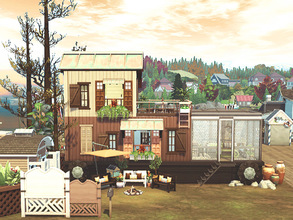 Sims 4 — The Truck by hoanglap — The Truck house design with simple gypsy-industrial style . Make the world your home! No
