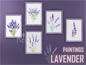 Sims 3 — [Rei] Lavender Paintings by -Rei- — Five paintings with a lavender theme by Rei. I hope you like it :) *Thank