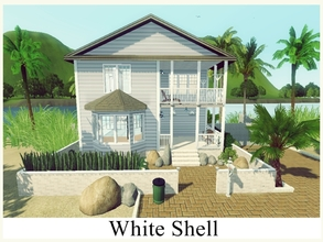 Sims 3 — White Shell by GhostlySimmer — WHITE SHELL is perfect for sims who love summer and ocean! This beach house