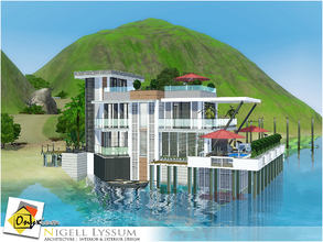 Sims 3 — Nigell Lyssum by Onyxium — On the first floor: Living Room | Dining Room | Kitchen | Bathroom On the second