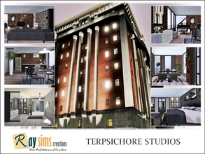 Sims 3 — Terpsichore Studios by Ray_Sims — Open loft spaces for the artists in residence, Terpsichore studios offer
