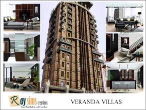 Sims 3 — Veranda Villas by Ray_Sims — City living with available outside space, the Veranda Villas features multiple