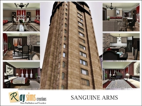 Sims 3 — Sanguine Arms by Ray_Sims — In a city that never sleeps, Sanguine Arms seems to come alive at night. Built next