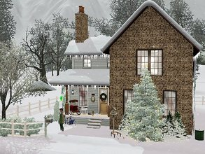 Sims 3 — Noelle Cottage by sgK452 — Small cottage for a couple, all comfort, decoration on the theme of Christmas. On the