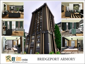 Sims 3 — Bridgeport Armory by Ray_Sims — Centrally located, this building is a favorite among the fashionable and the