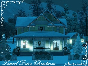 Sims 3 — Laurel Drive Christmas by missyzim — A beautiful Stick Style Victorian home decorated for the holidays. The