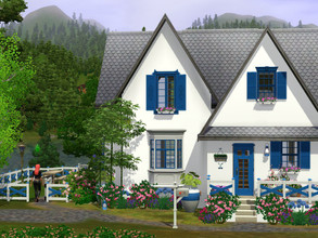 Sims 3 — The Blue Shutters empty no CC by sgK452 — Built in the town of Medion694's Constant Springs at Fishing Nest,
