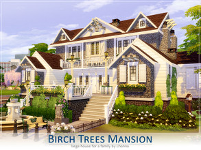Sims 4 — Birch Trees Mansion by Lhonna — Large and comfy house for a family, perhaps writers or classic musicians.
