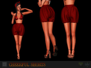 Sims 3 — Cheerful shorts by Shushilda2 — Shorts from Barrybass performance https://youtu.be/8zmxh6e02TQ - 1 recolorable