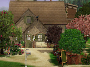 Sims 3 — Les Marnes no CC by sgK452 — This small stone house is perfect for nature and gardening lovers, because its