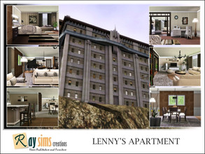 Sims 3 — Lenny's Apartment by Ray_Sims — Lenny Shutter's house. Built as the twin to its higher class neighbor, Founders