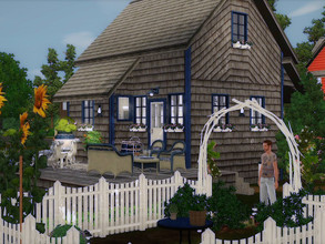 Sims 3 — Blue Cottage no CC by sgK452 — Adorable small cottage, ideal for a young couple who starts in the active life.