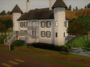 Sims 3 — Appaloosa Plains Castle no cc empty by sgK452 — Pretty castle on the water, with 3 bridges, 2 guest houses, a