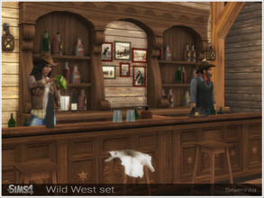 Sims 4 — Wild West set by Severinka_ — A set of furniture and decor for decoration home or saloon in the style of the