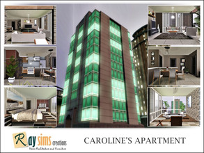 Sims 3 — Caroline's Apartment by Ray_Sims — Caroline Custard's House. Centrally located, the Glass Pillar building is a