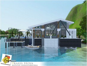 Sims 3 — Praxis Hoya by Onyxium — On the first floor: Living Room | Dining Room | Kitchen | Bathroom | Adult Bedroom |