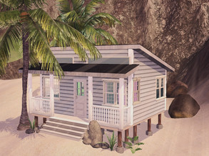 Sims 3 — Sandy Beach Shack by Pluviophist — A small cozy shack to sit on the beach, perfect for one! Prepare for the