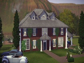 Sims 3 — Residential Hamptons by Daniela_Costa — This house has three bedrooms and two bathrooms. It also has a garage, a