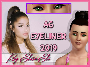 Sims 3 — AG Eyeliner 2019 by elisaeli1 — This is an inspired Eyeliner, in Ariana Grande in the year 2019, the American