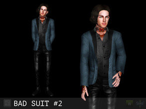Sims 3 — Bad suit #2 by Shushilda2 — New mesh | Low poly | 3 recolorable channels