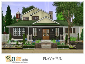 Sims 3 — Flava-ful by Ray_Sims — This personality-rich fixer-upper sits on a convenient corner lot and features a