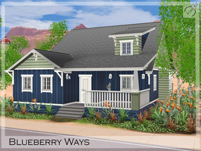 Sims 3 — Blueberry Ways by timi722 — Craftsman style house for a starter family. The house contains two porch and a small