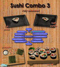 Sims 2 — Japanese Sushi meals - Combo 3 by Simaddict99 — Delicious Sushi any time of day. No cooking required, shows