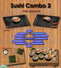 Sims 2 — Japanese Sushi meals - Combo 2 by Simaddict99 — Delicious Sushi any time of day. No cooking required, shows