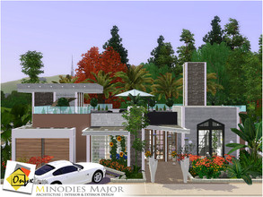Sims 3 — Minodies Major by Onyxium — On the first floor: Living Room | Dining Room | Kitchen | Bathroom | Adult Bedroom |