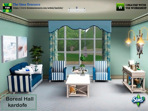 Sims 3 — kardofe_Boreal Hall by kardofe — Set of ten new meshes to recreate a nautical style room