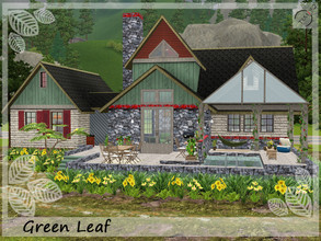 Sims 3 — Green Leaf by timi722 — The Green Leaf is a home for a medium family. Landscaped outdoor area with yellow