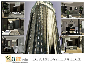 Sims 3 — Crescent Bay Pied a Terre by Ray_Sims — This apartment has 2 bedroom and 2 bathroom. Hope you enjoy it :)