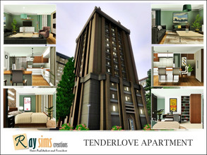 Sims 3 — Tenderlove Apartment by Ray_Sims — This apartment has 2 bedroom and 2 bathroom. Hope you enjoy it :)