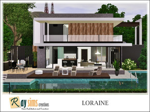 Sims 3 — Loraine by Ray_Sims — This house has 2 bedrooms, and 3 bathrooms. I really hope you guys like it.. Thank you