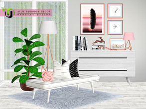 Sims 3 — Allie Bedroom Decor by NynaeveDesign — Increase the relaxation factor of your sims' bedroom with these soft hues