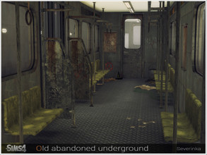 Sims 4 — Old abandoned underground by Severinka_ — A set of furniture and decor for the design of the lot in the style of