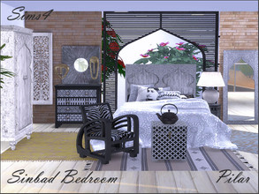 Sims 4 — Sinbad Bedroom by Pilar — Evoking Eastern mysteries and legends