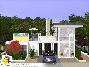 Sims 3 — Wax Gold by Onyxium — On the first floor: Living Room | Dining Room | Kitchen | Bathroom | Adult Bedroom | Park