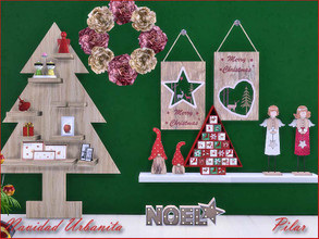 Sims 4 — Navidad Urbanita by Pilar — Objects to decorate the Christmas holidays