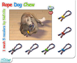 Sims 2 — Rope Dog Chew (Mesh & Recolors) by NoFrills — Just a dog chew made by rope and plastic, your Sims dog will